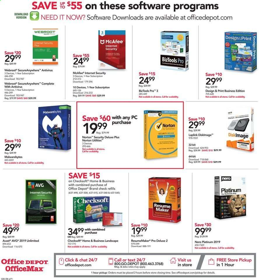 Office DEPOT flyer 07 14 2019 - 07 20 2019 | Weekly-ads us
