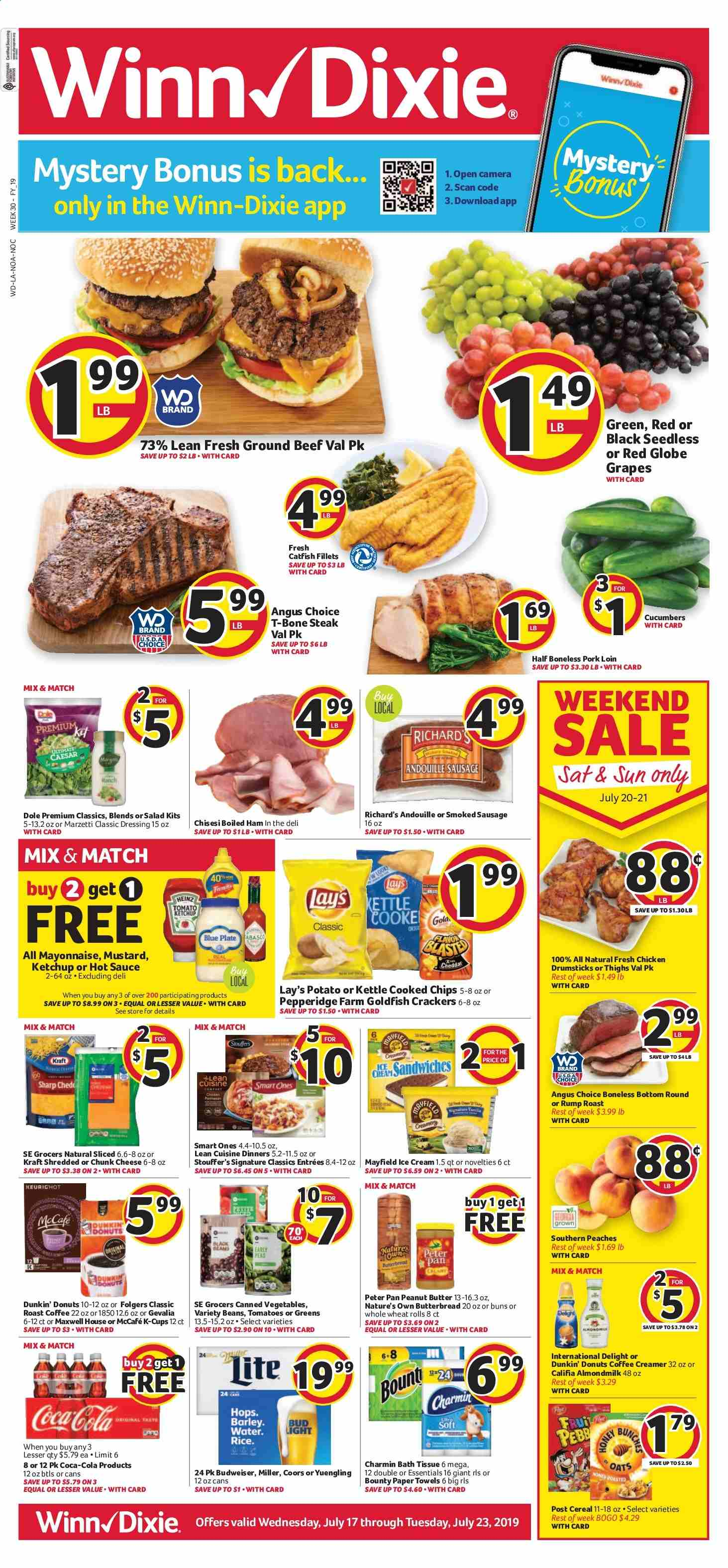 Winn Dixie Flyer  - 07.17.2019 - 07.23.2019. Page 1.