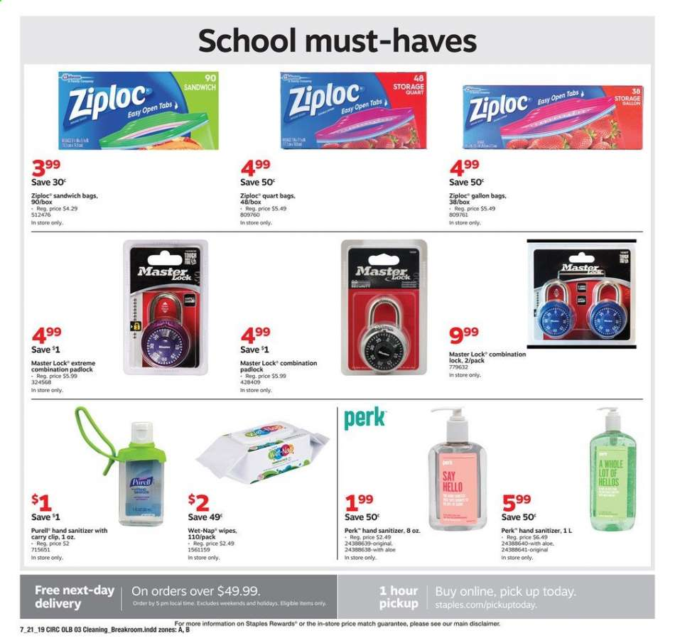 What Time Does Staples Open Today >> Staples Flyer 07 21 2019 07 27 2019 Weekly Ads Us