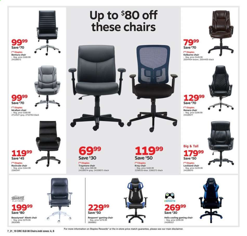 Remarkable Staples Flyer 07 21 2019 07 27 2019 Weekly Ads Us Camellatalisay Diy Chair Ideas Camellatalisaycom