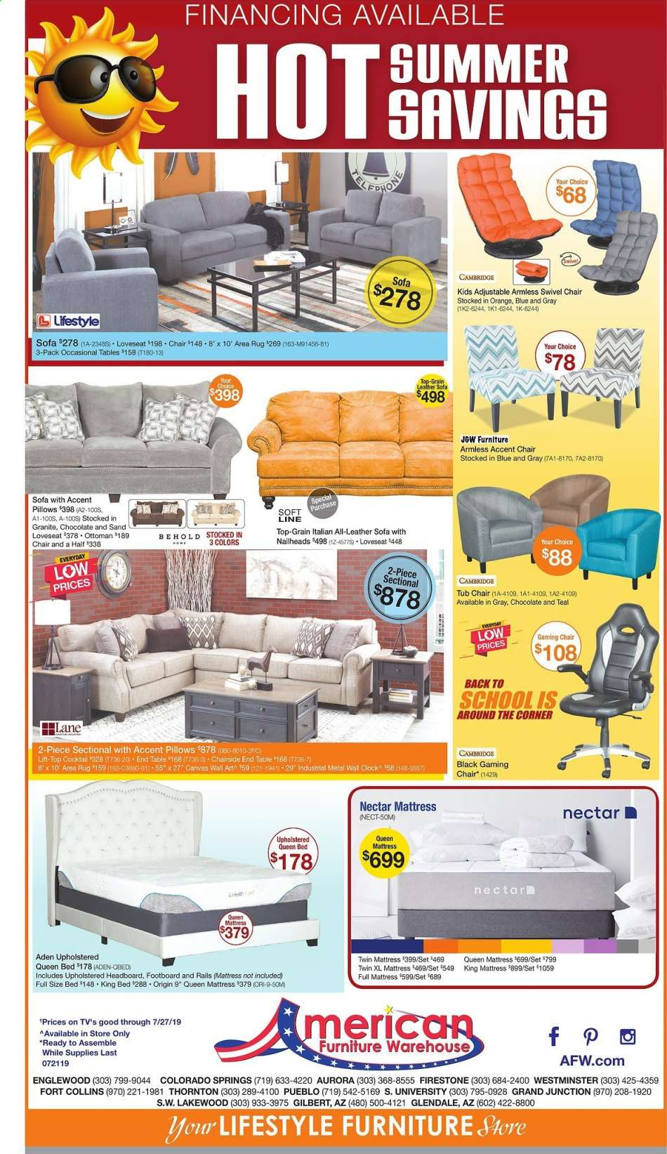 2 Accent Chairs And A Tv And Sectional.American Furniture Warehouse Flyer 07 21 2019 07 27 2019 Weekly