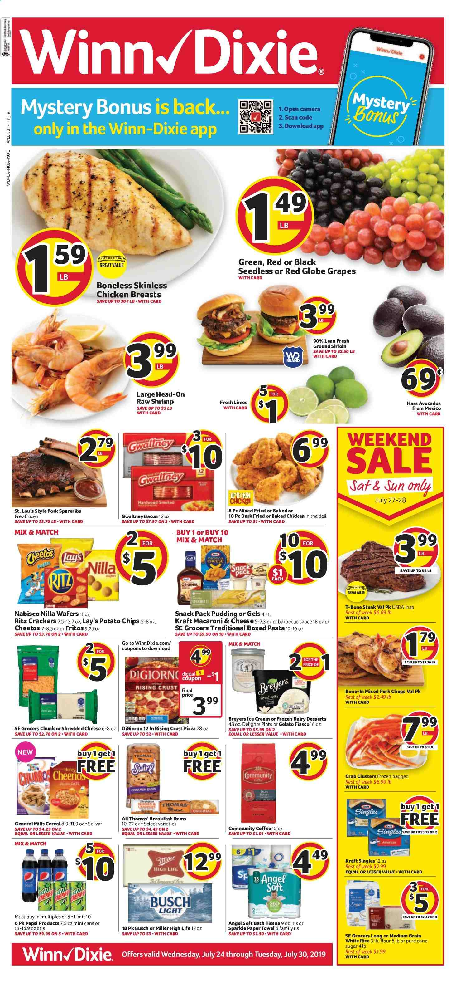 Winn Dixie Flyer  - 07.24.2019 - 07.30.2019. Page 1.