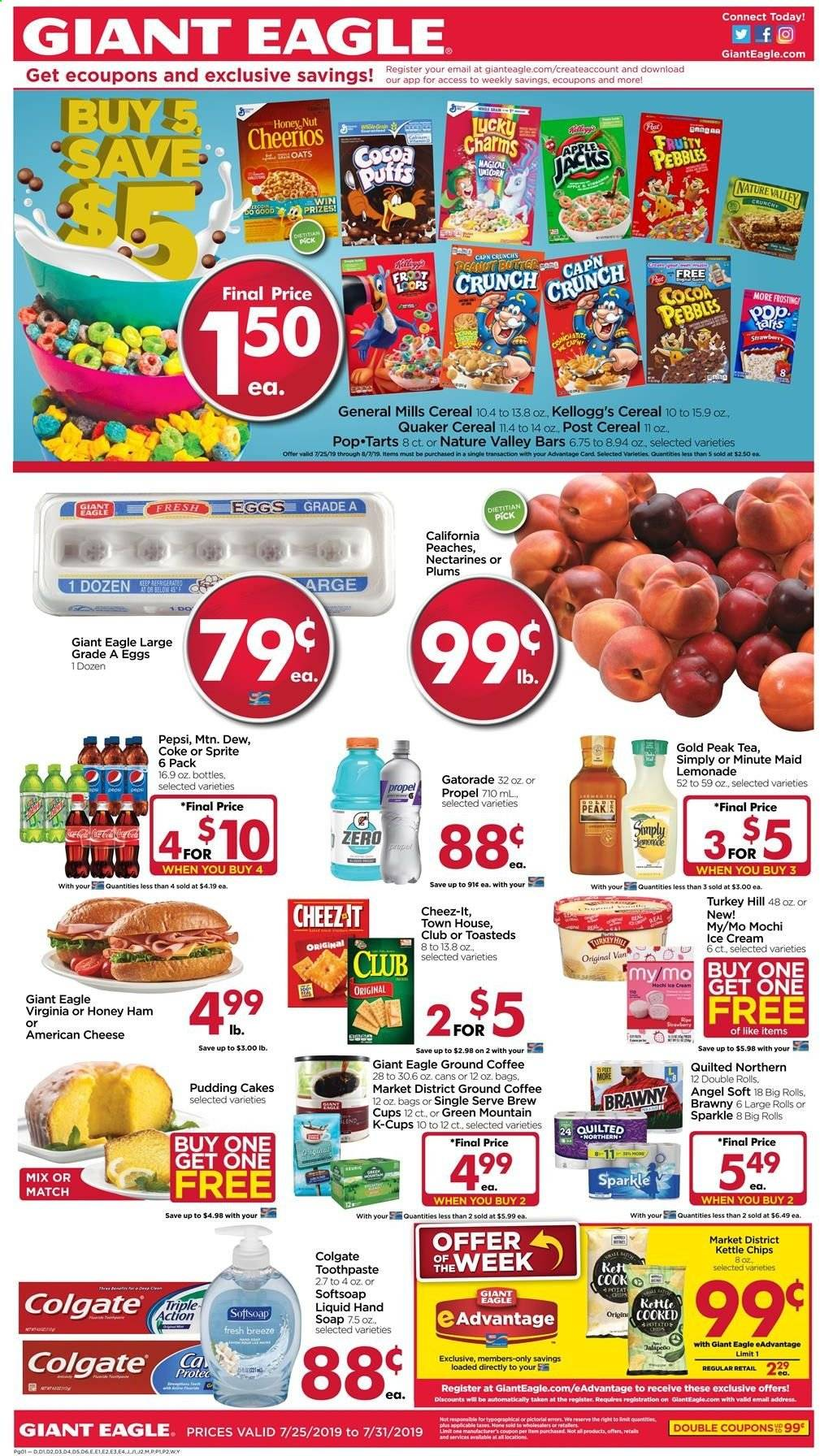 Giant Eagle Flyer  - 07.25.2019 - 07.31.2019. Page 1.