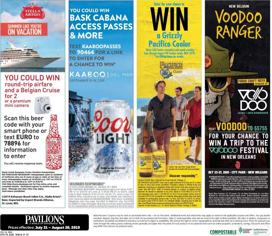 Pavilions flyer 07 31 2019 - 08 20 2019 | Weekly-ads us
