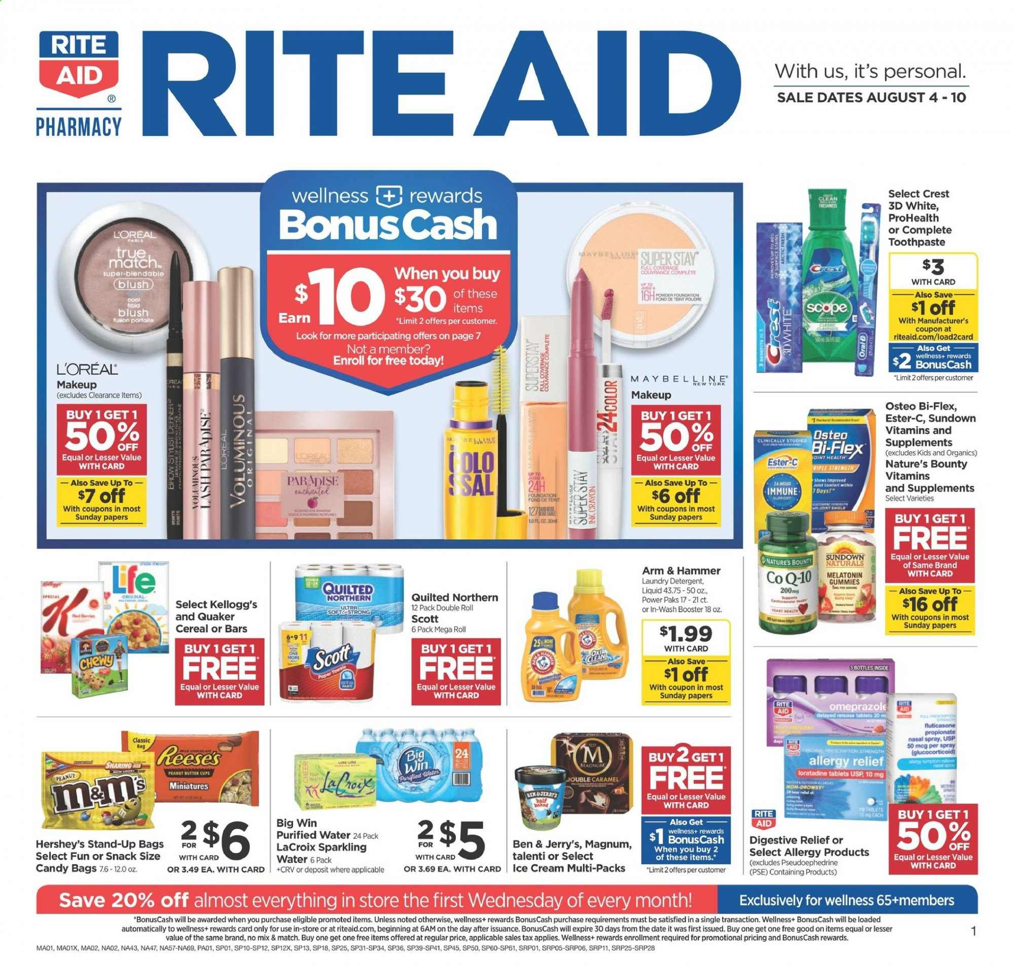RITE AID Flyer  - 08.04.2019 - 08.10.2019. Page 1.