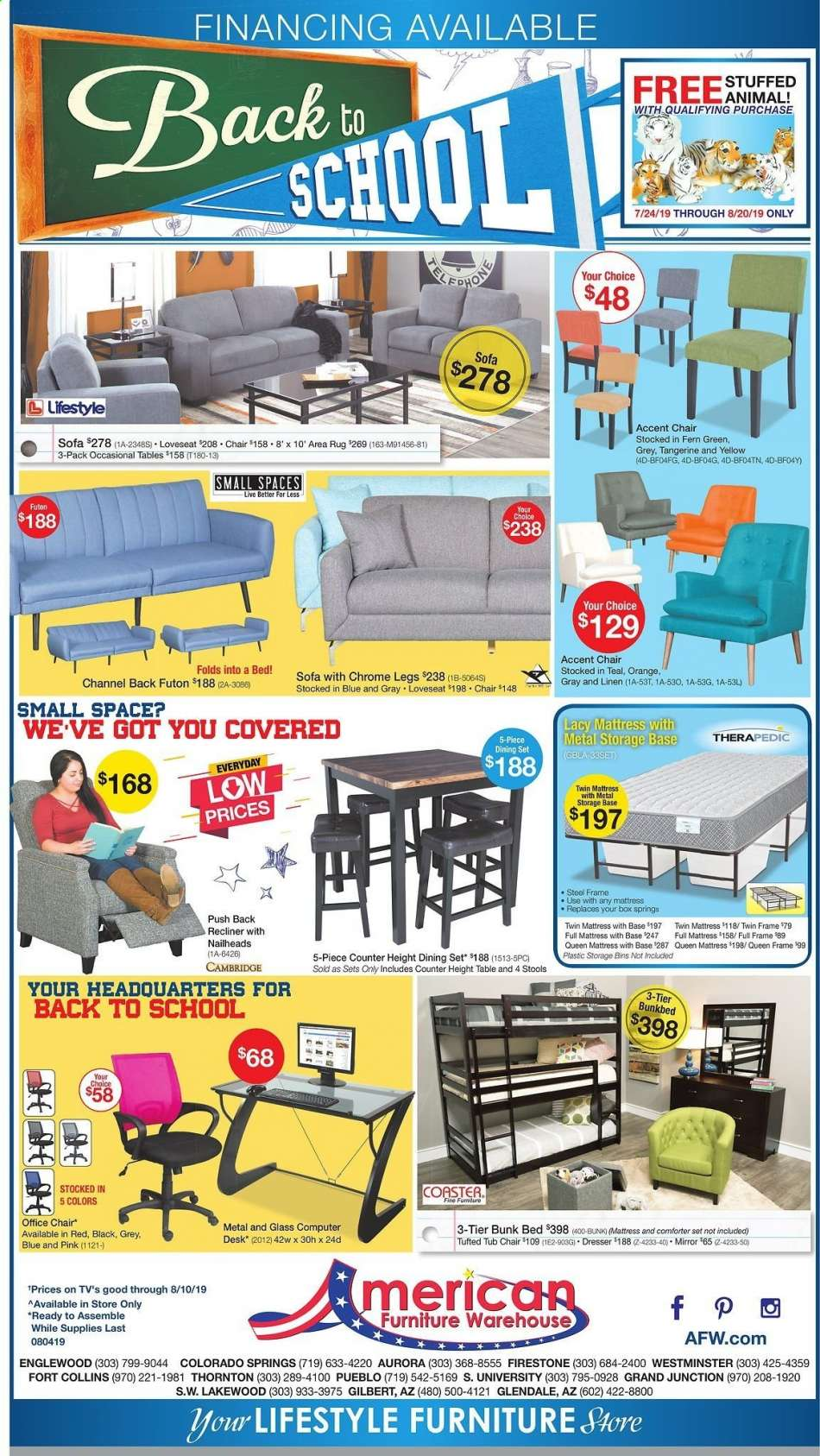 American Furniture Warehouse Flyer 08 04 2019 08 10 2019