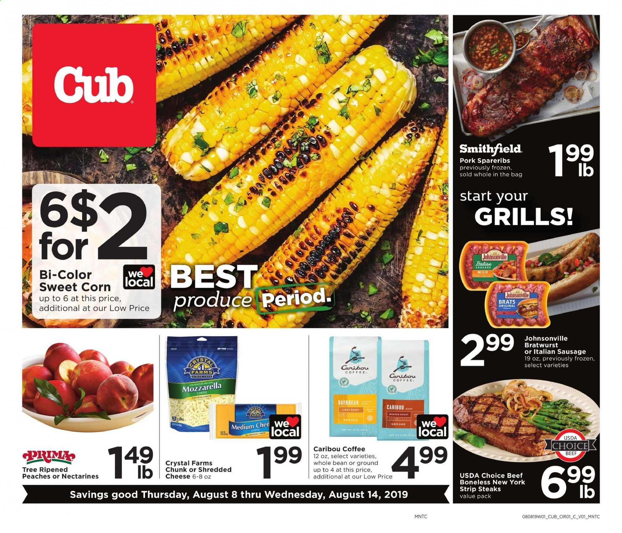Cub Foods Flyer  - 08.08.2019 - 08.14.2019. Page 1.