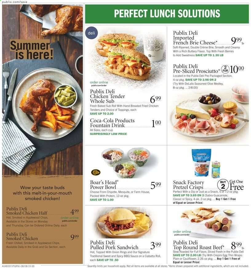 Publix flyer 08 07 2019 - 08 13 2019 | Weekly-ads us