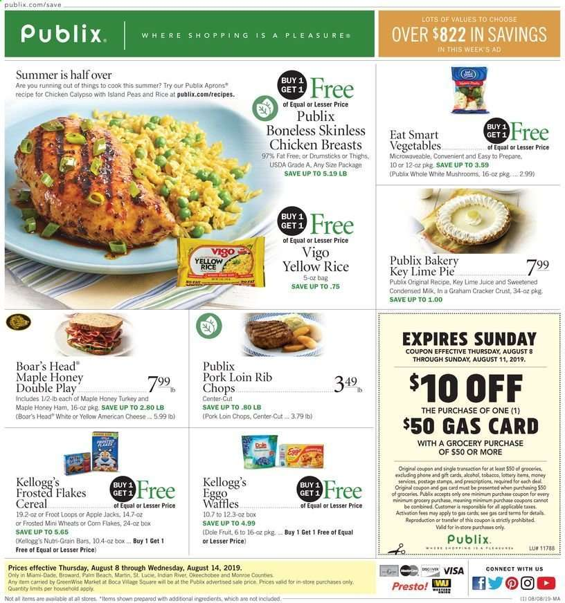 Publix flyer 08 08 2019 - 08 14 2019 | Weekly-ads us