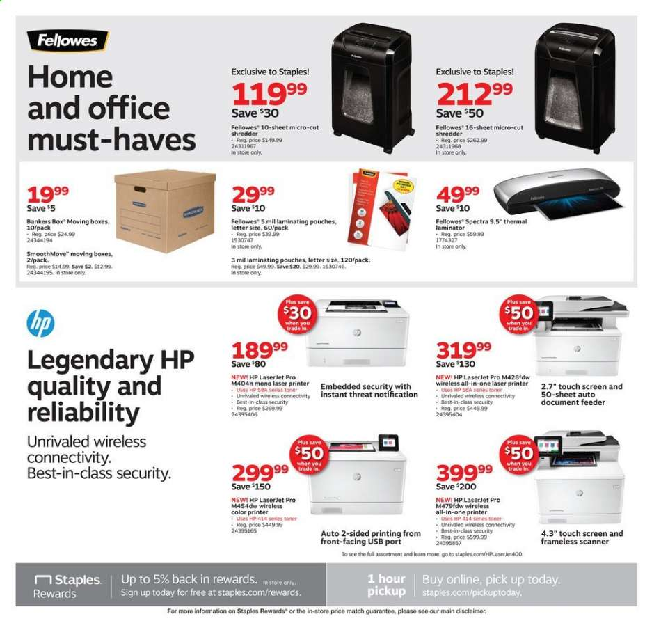 Staples flyer 08 11 2019 - 08 17 2019   Weekly-ads us