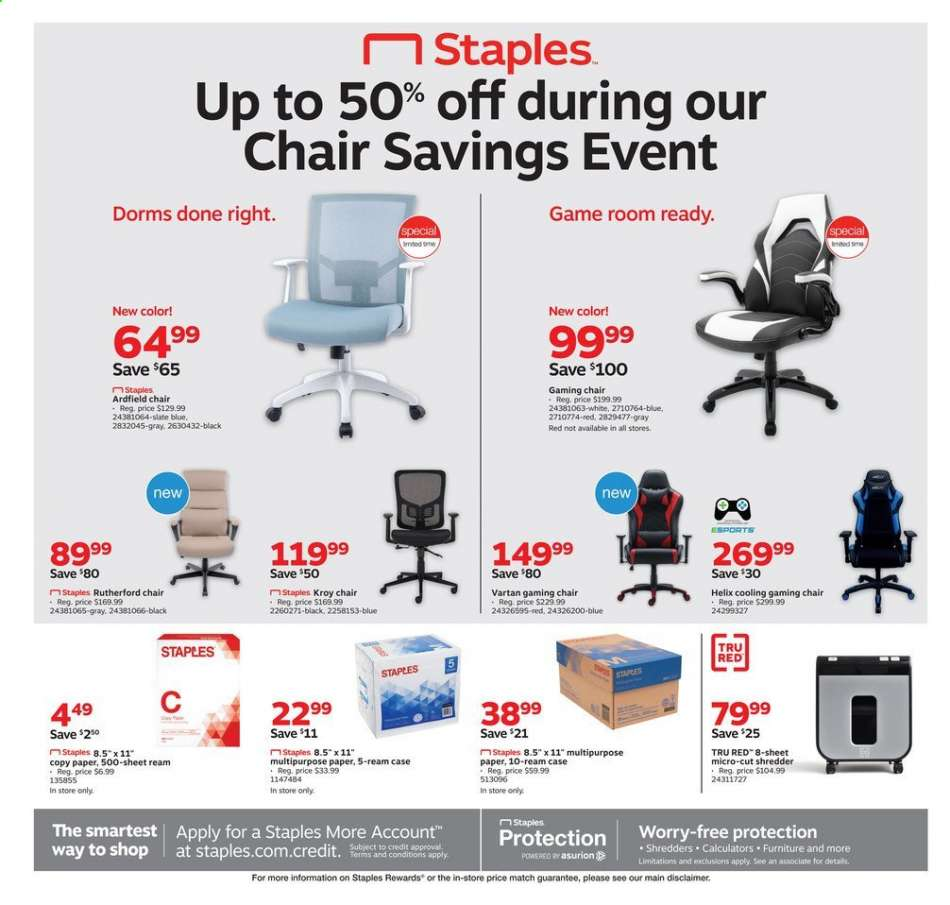 Swell Staples Flyer 08 11 2019 08 17 2019 Weekly Ads Us Machost Co Dining Chair Design Ideas Machostcouk