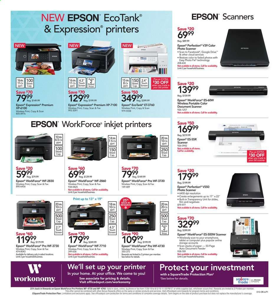 Office DEPOT flyer 08 11 2019 - 08 17 2019 | Weekly-ads us