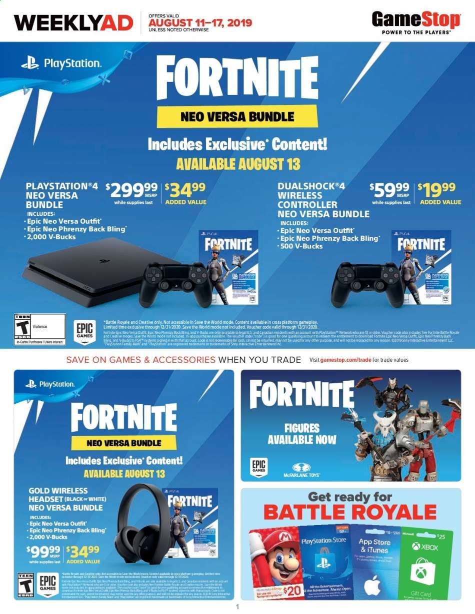 GameStop flyer 08 11 2019 - 08 17 2019 | Weekly-ads us