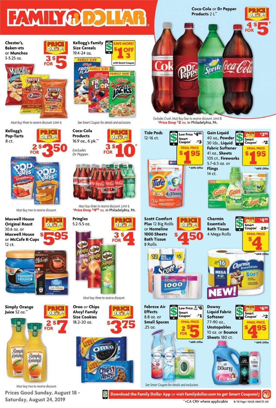 Family Dollar flyer 08 18 2019 - 08 24 2019 | Weekly-ads us