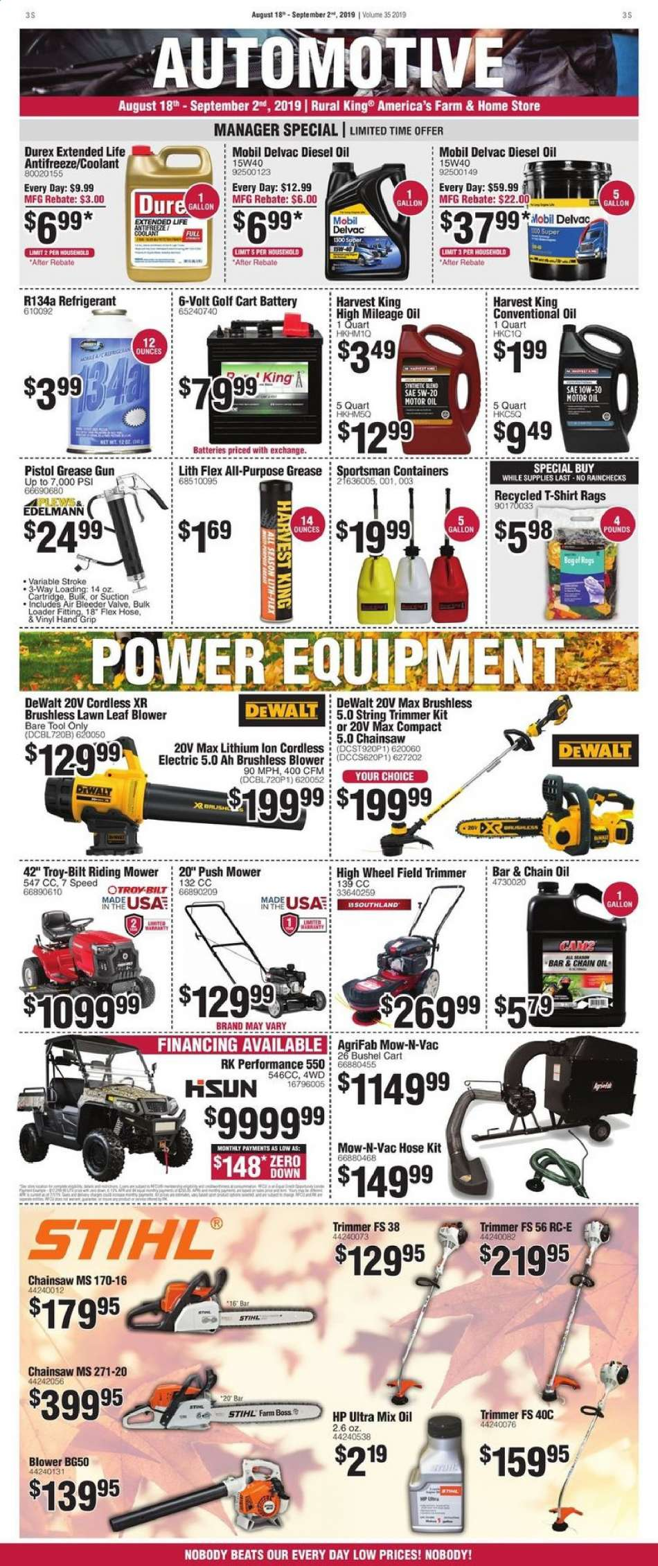 Rural King flyer 08 18 2019 - 09 02 2019 | Weekly-ads us