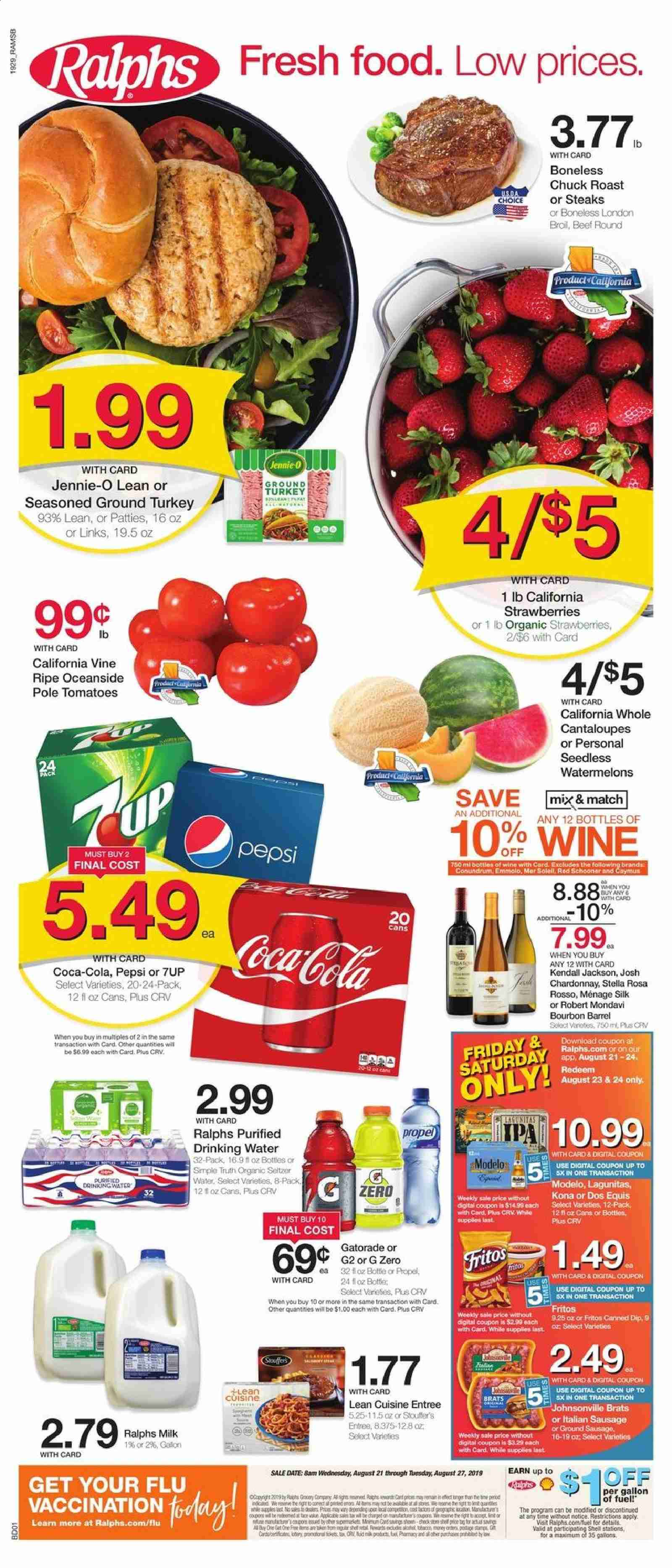 Ralphs Flyer  - 08.21.2019 - 08.27.2019. Page 1.