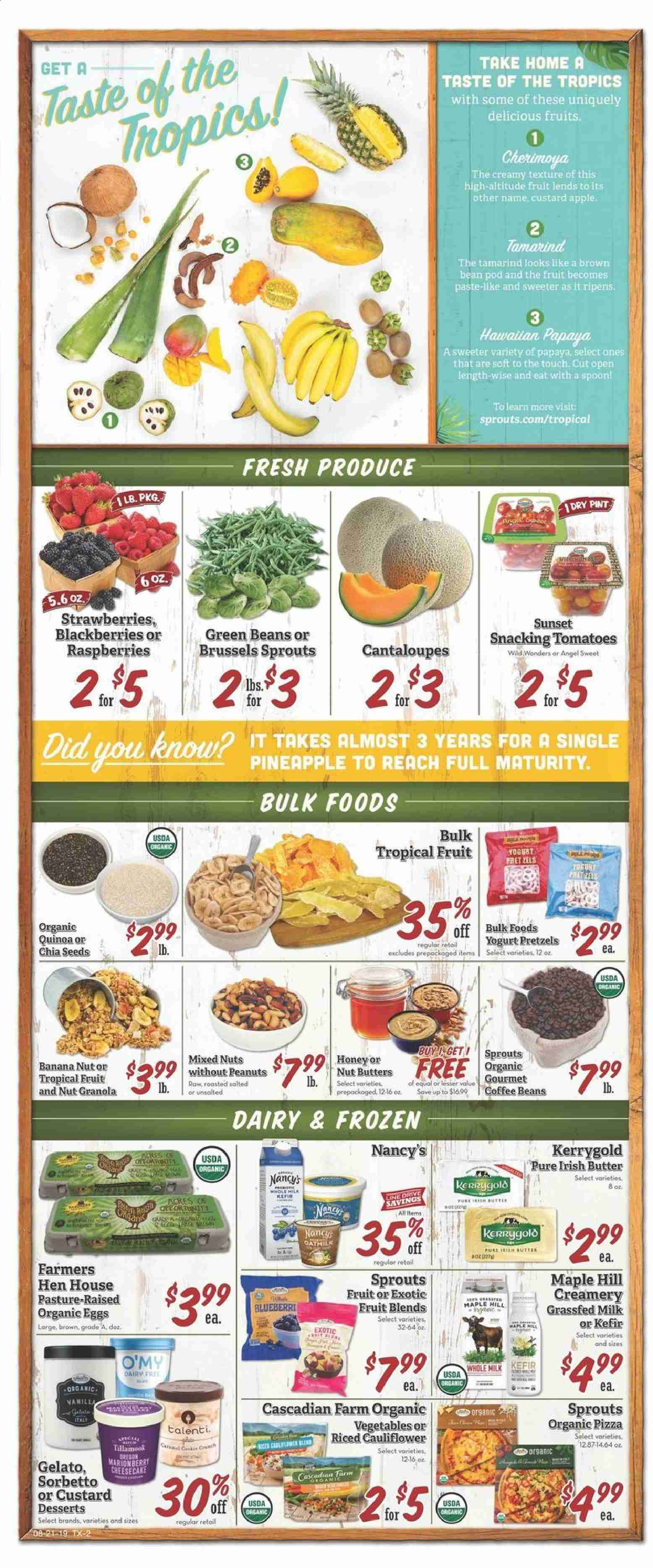 Sprouts Flyer  - 08.21.2019 - 08.28.2019. Page 2.