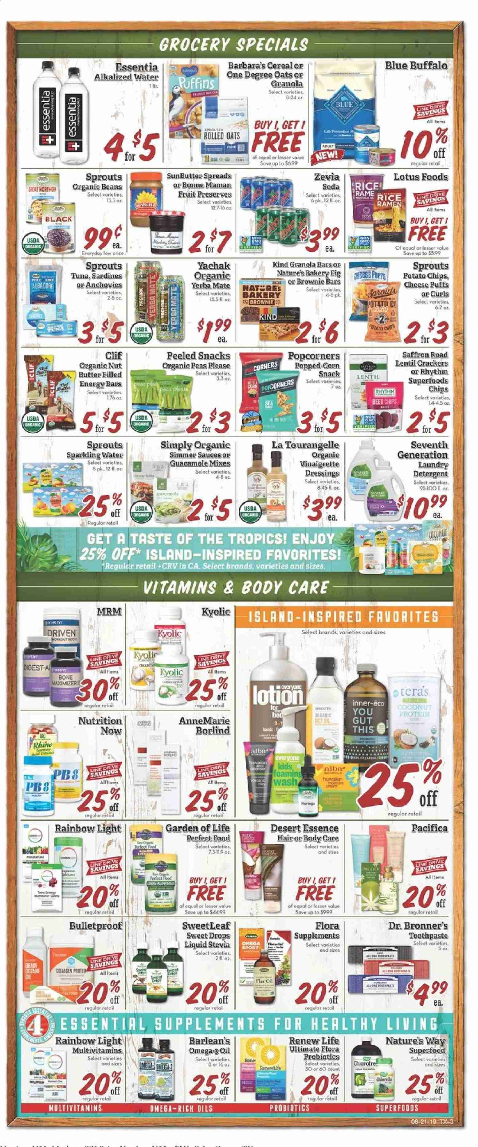 Sprouts Flyer  - 08.21.2019 - 08.28.2019. Page 3.