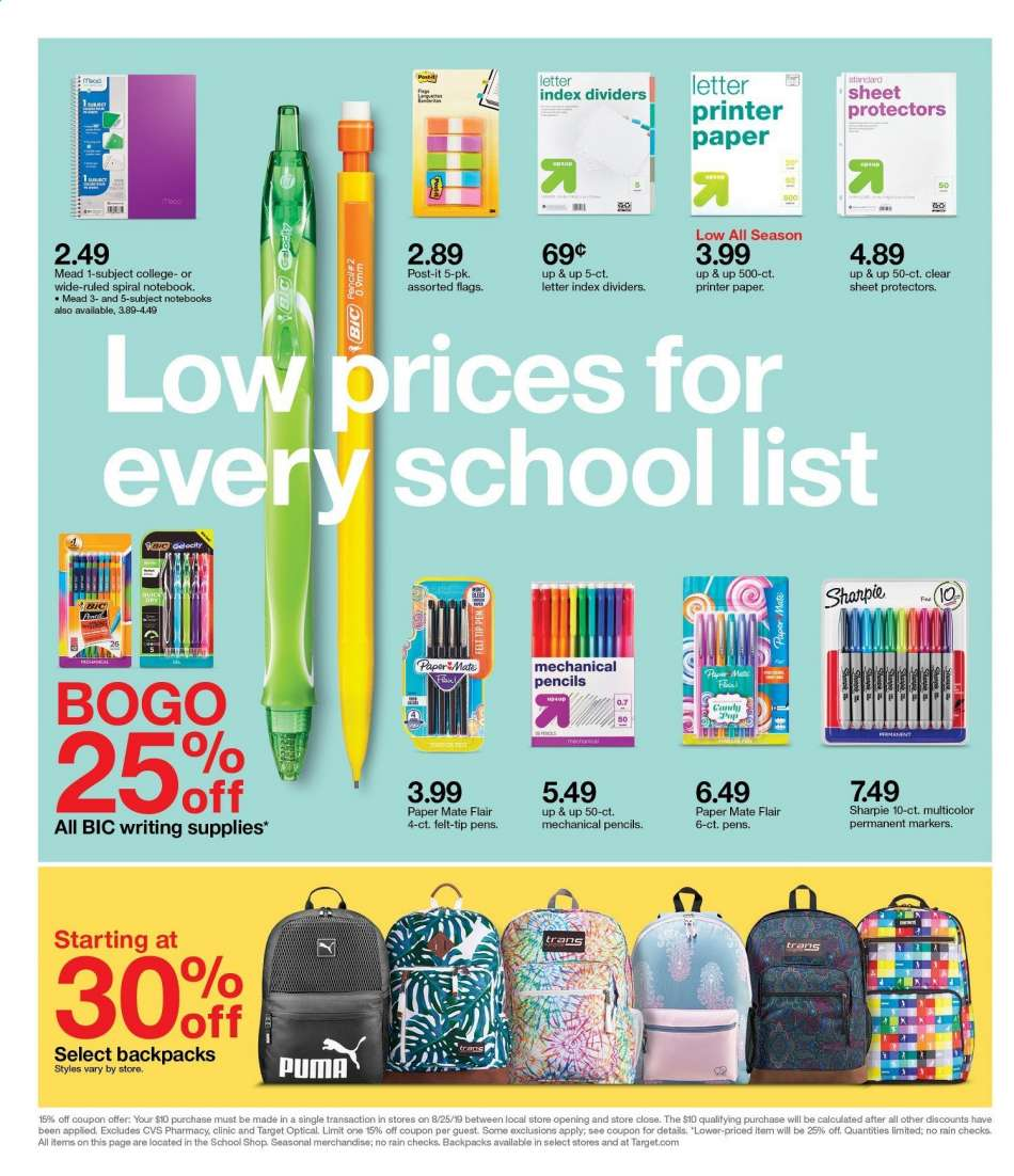 Target flyer 08 25 2019 - 08 31 2019   Weekly-ads us