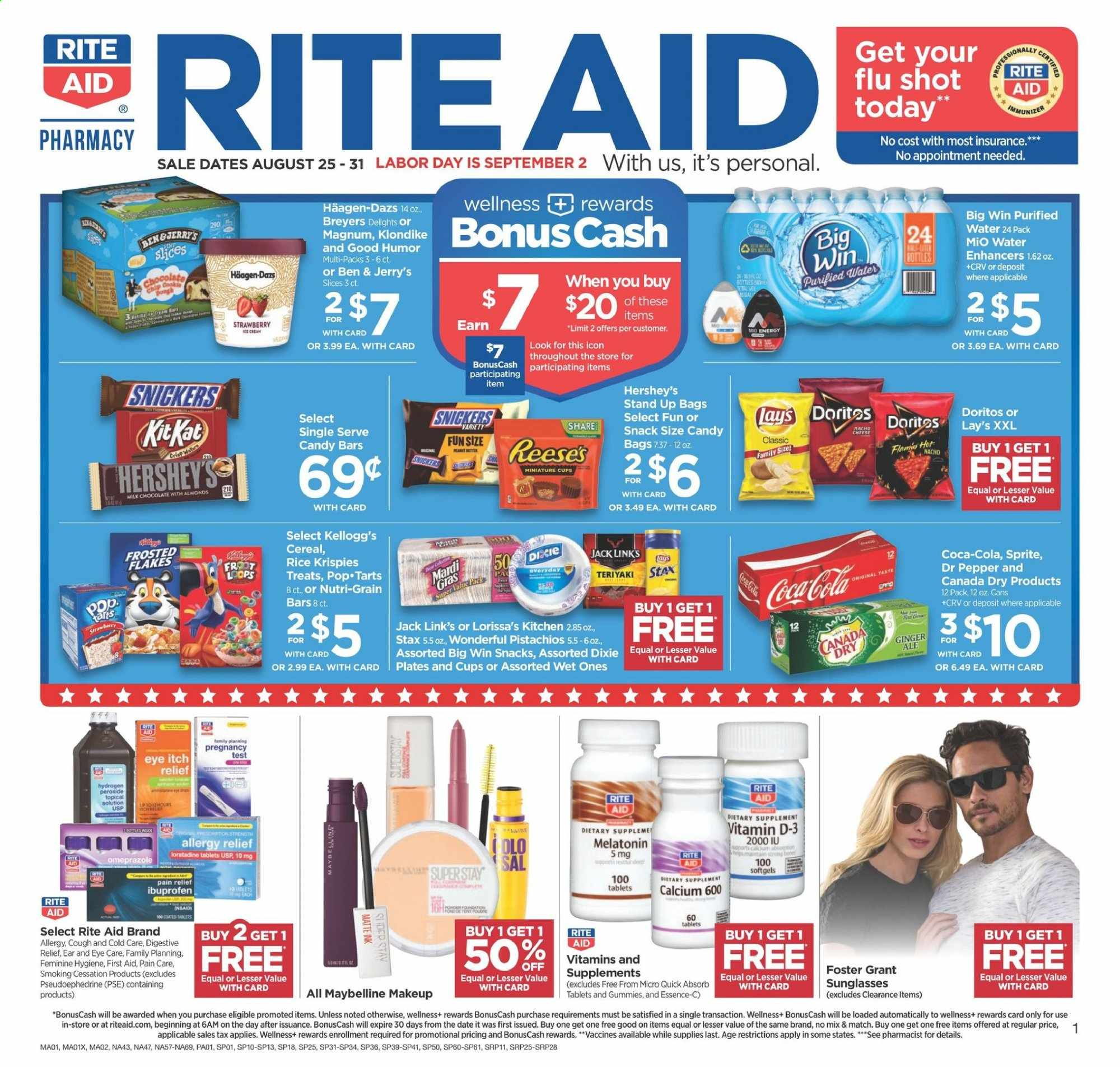 RITE AID Flyer  - 08.25.2019 - 08.31.2019. Page 1.