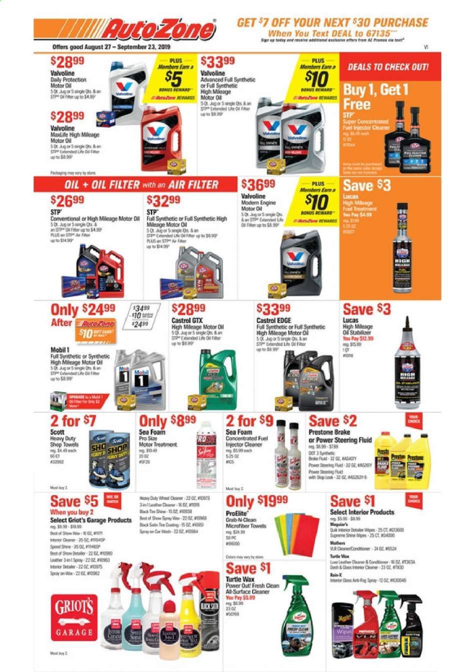Autozone flyer 08 27 2019 - 09 23 2019 | Weekly-ads us