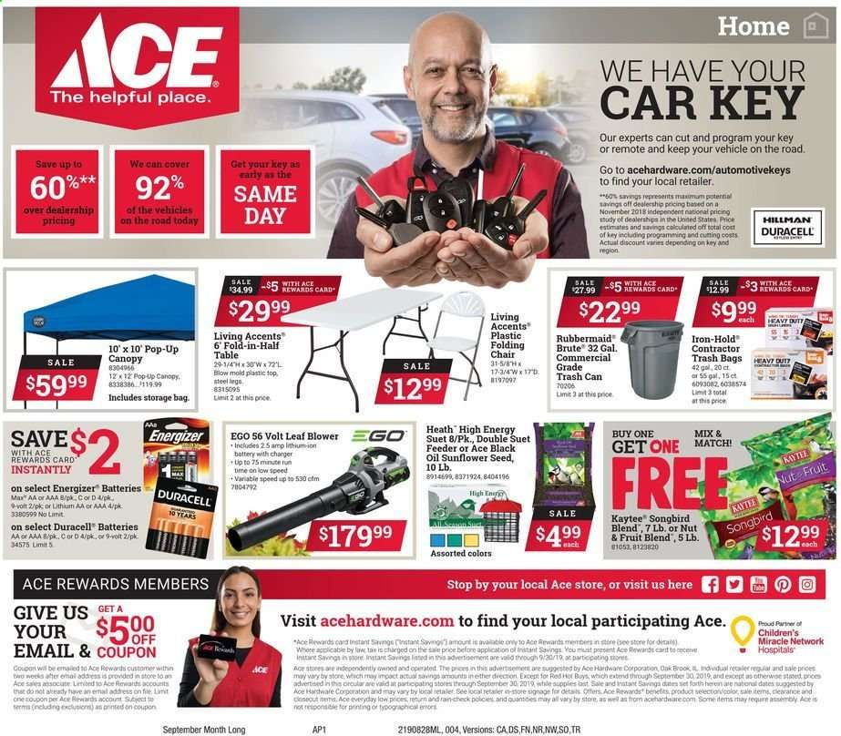 sports shoes 82ac1 224fa ACE Hardware flyer 08.28.2019 - 09.30.2019 | Weekly-ads.us