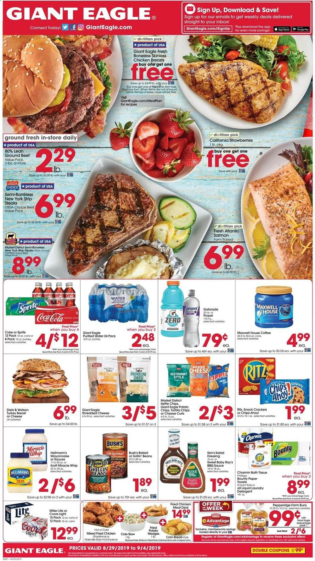 Giant Eagle Flyer  - 08.29.2019 - 09.04.2019. Page 1.
