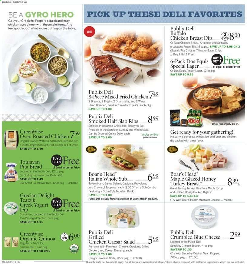 Publix flyer 08 29 2019 - 09 04 2019 | Weekly-ads us