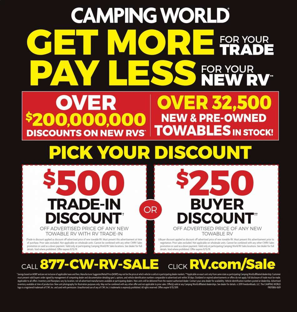 Camping World flyer 09 03 2019 - 09 15 2019 | Weekly-ads us