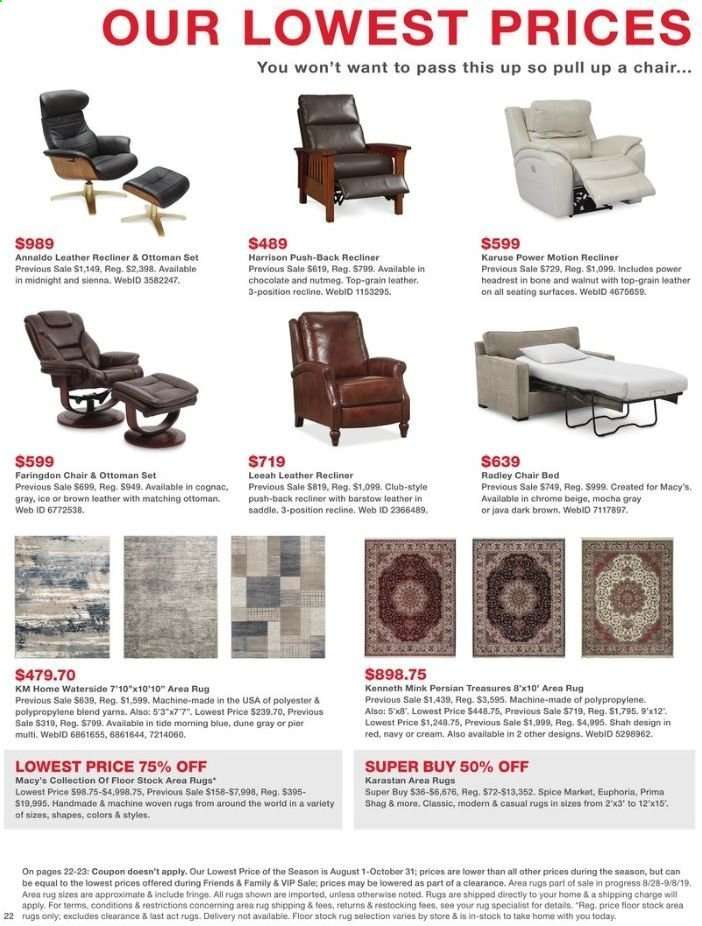 Wondrous Macys Flyer 09 06 2019 09 07 2019 Weekly Ads Us Pdpeps Interior Chair Design Pdpepsorg