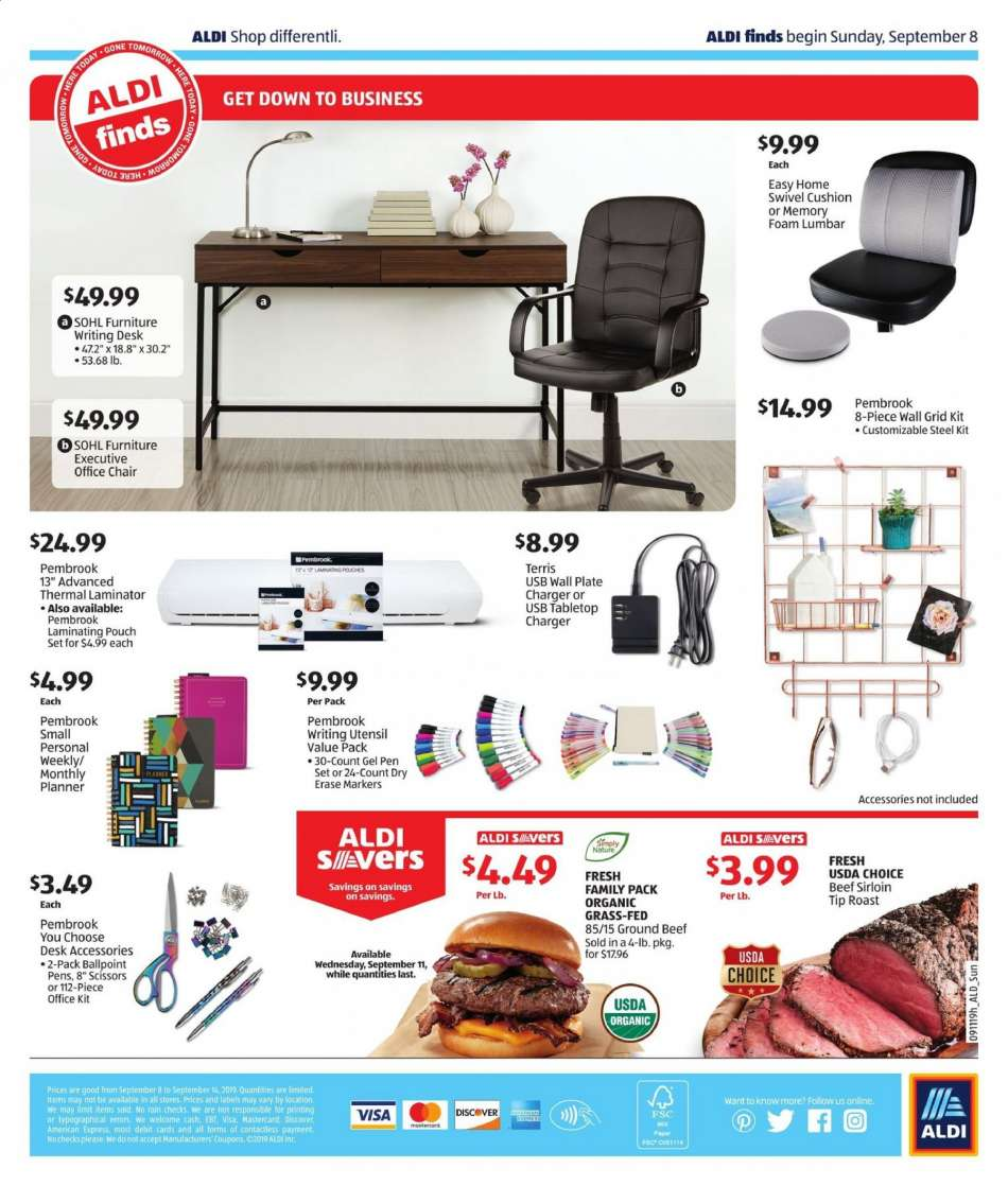 Phenomenal Aldi Flyer 09 08 2019 09 14 2019 Weekly Ads Us Machost Co Dining Chair Design Ideas Machostcouk
