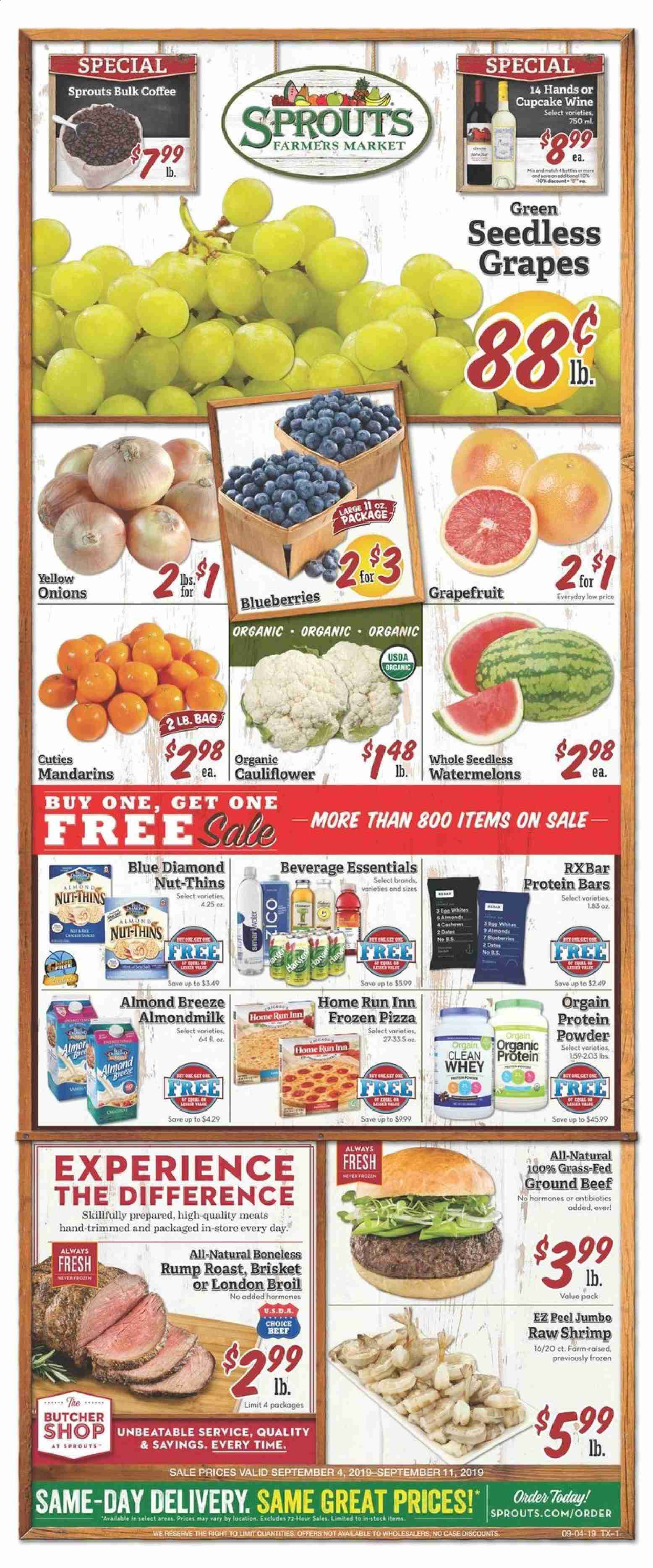 Sprouts Flyer  - 09.04.2019 - 09.11.2019. Page 1.