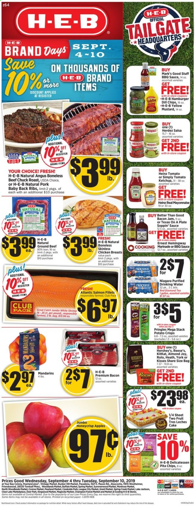 H-E-B Flyer  - 09.04.2019 - 09.10.2019. Page 1.