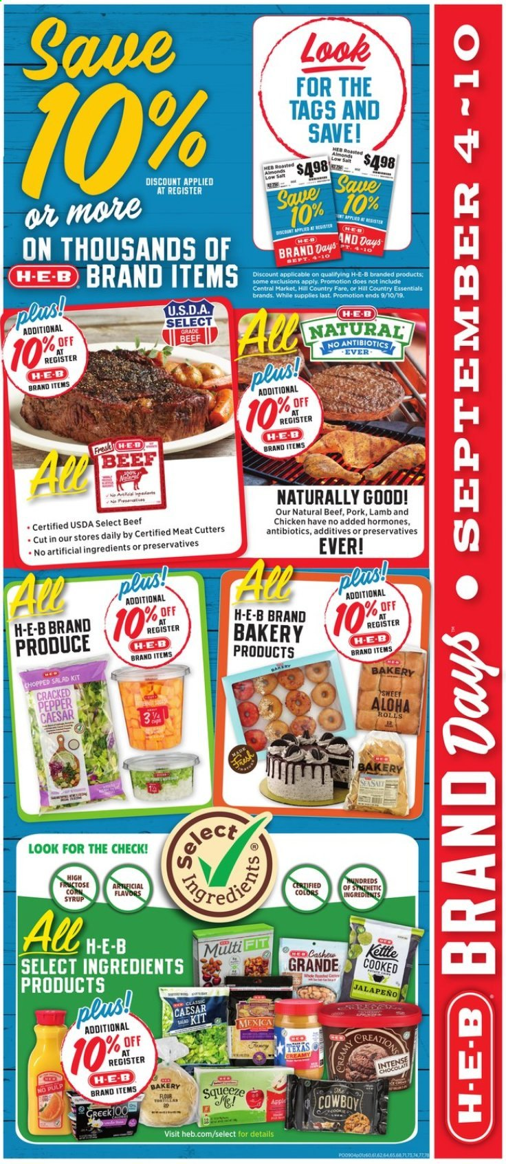 H-E-B Flyer  - 09.04.2019 - 09.10.2019. Page 3.
