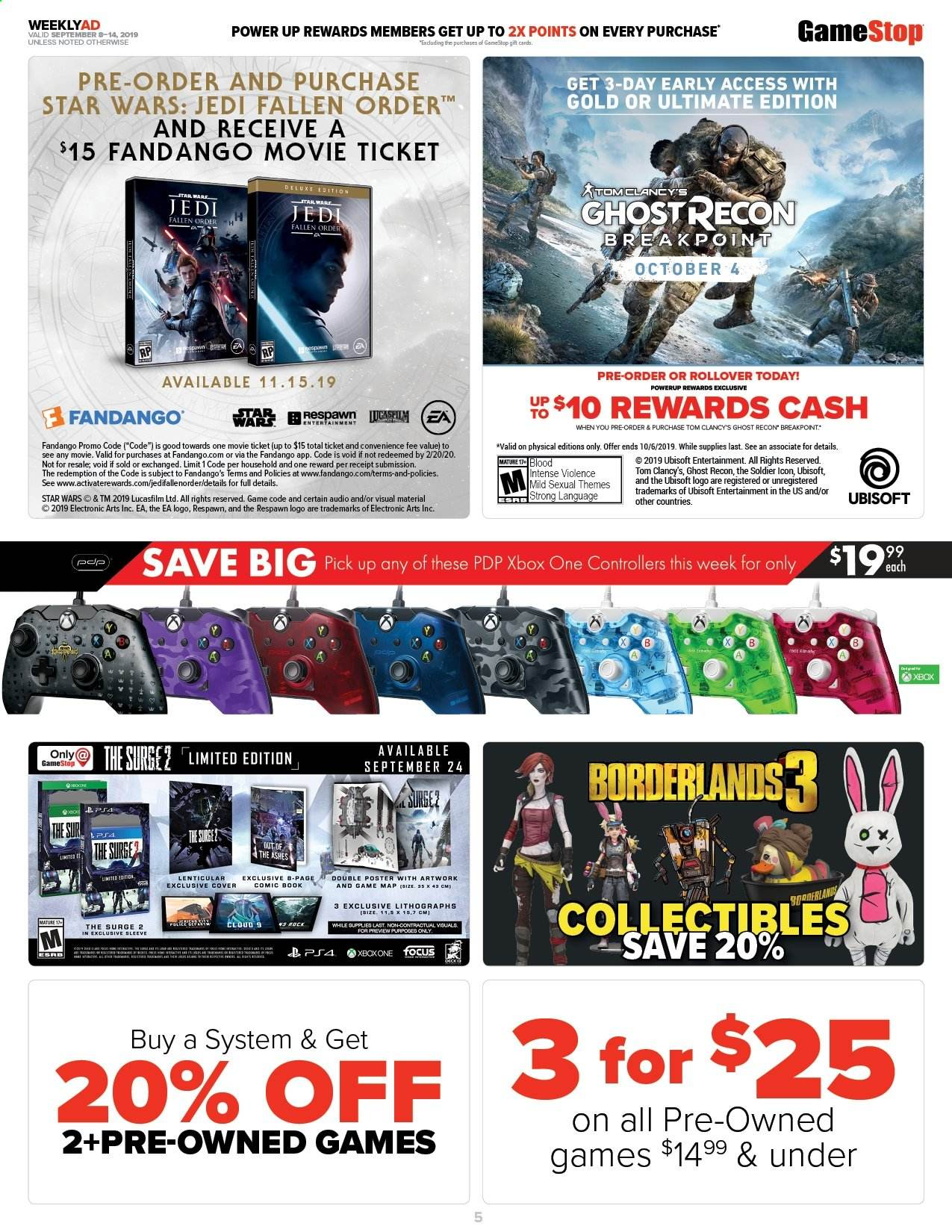 Gamestop Flyer 09 08 2019 09 14 2019 Page 7 Weekly Ads