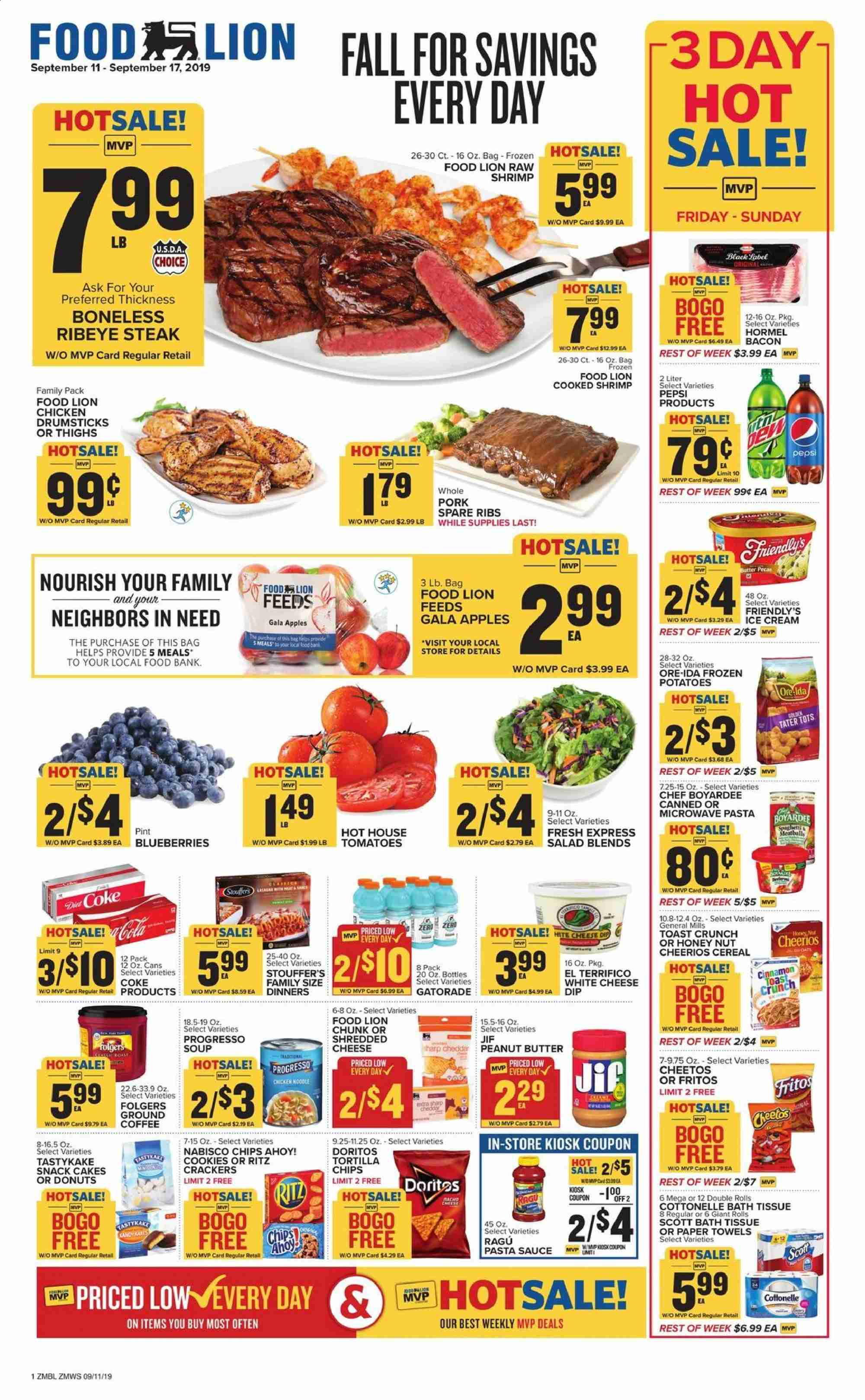 Food Lion Flyer  - 09.11.2019 - 09.17.2019. Page 1.