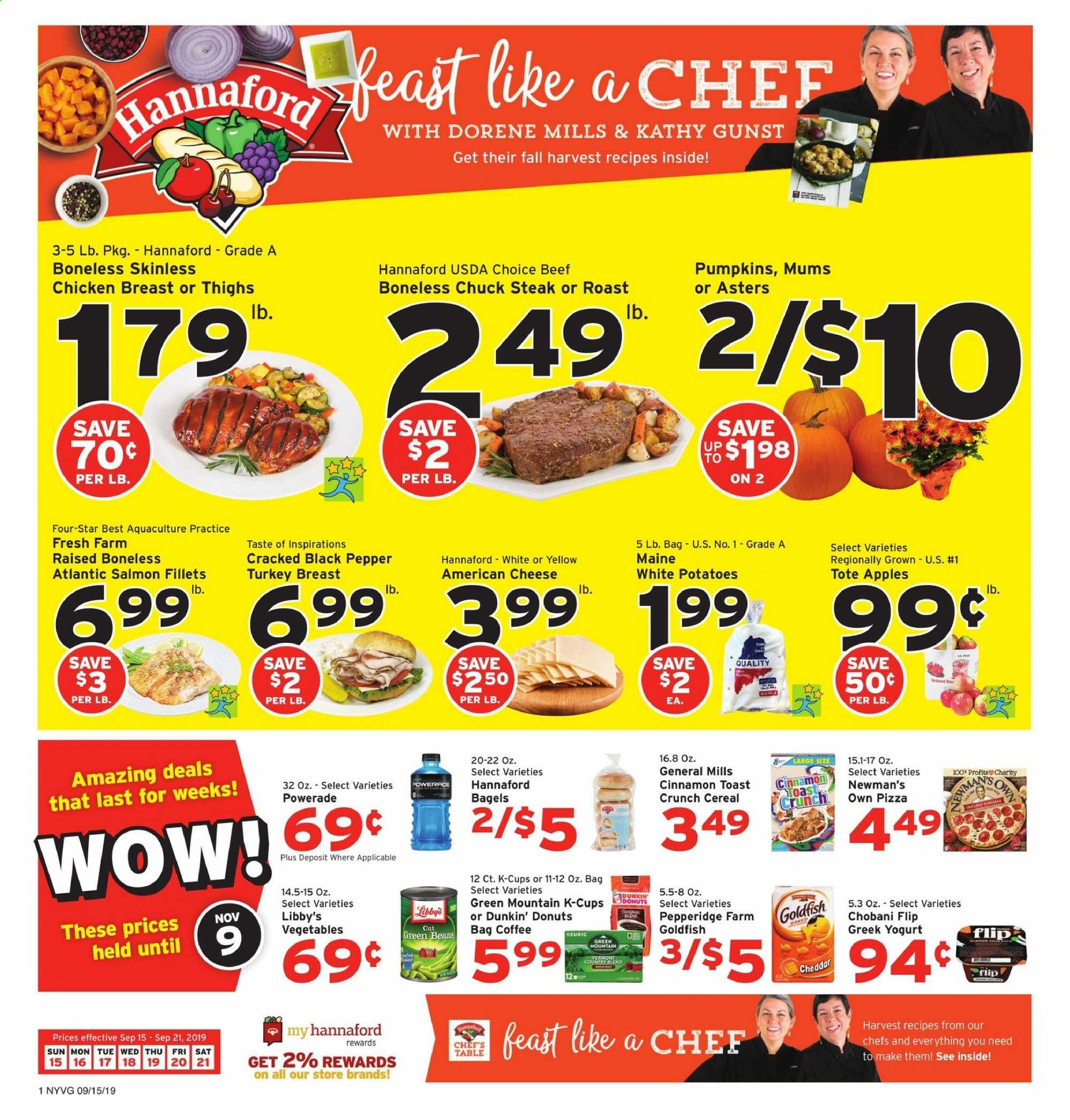 Hannaford Flyer  - 09.15.2019 - 09.21.2019. Page 1.