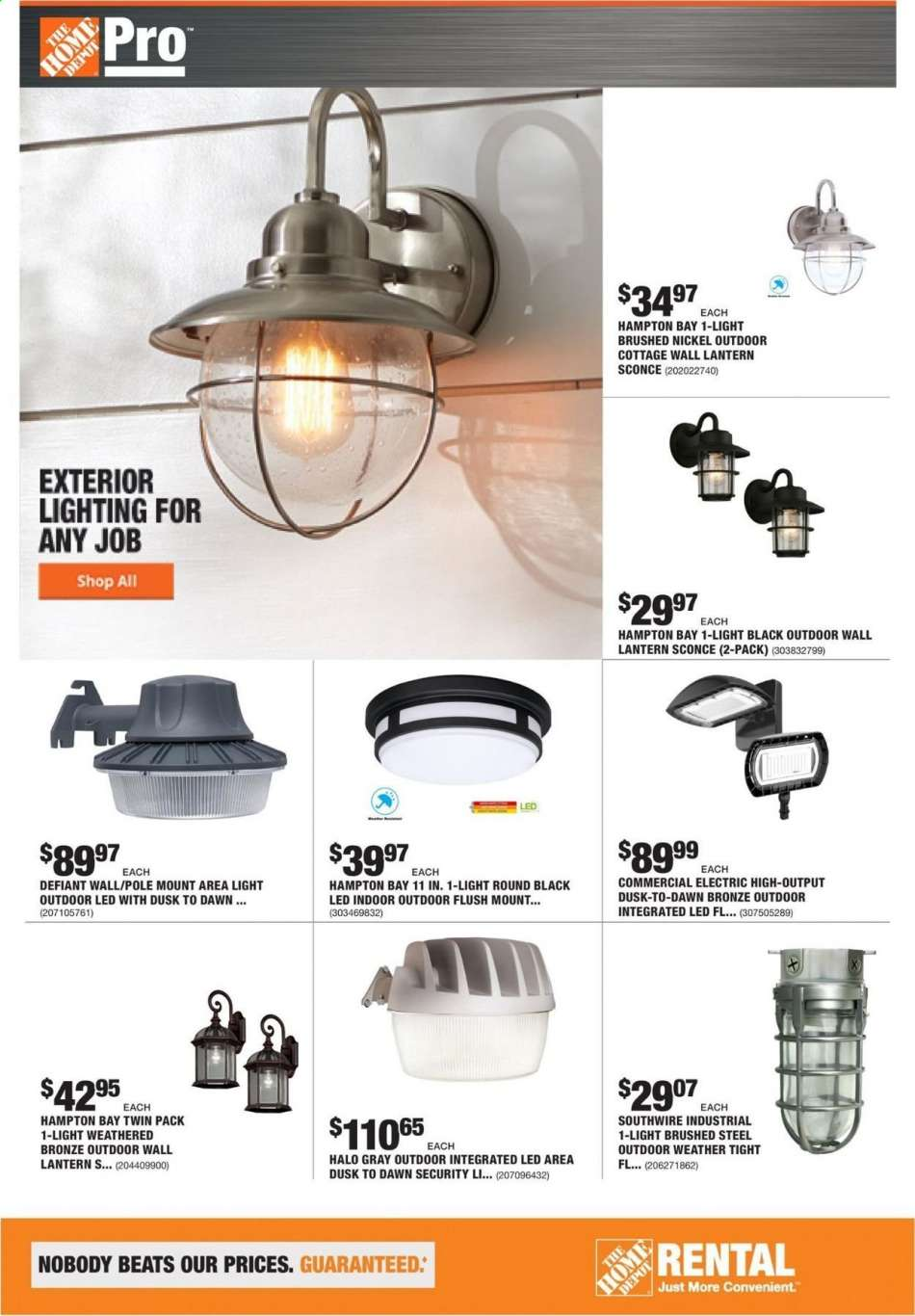 Defiant Area Light Wall// Pole Mount Outdoor LED Weather Resistant Dusk to Dawn