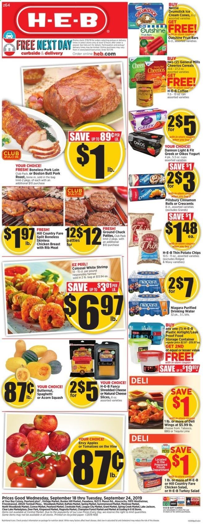 H-E-B Flyer  - 09.18.2019 - 09.24.2019. Page 1.