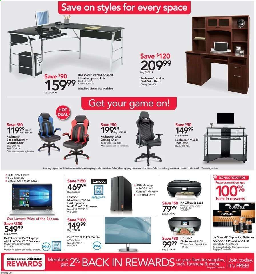 Astounding Office Depot Flyer 09 22 2019 09 28 2019 Weekly Ads Us Uwap Interior Chair Design Uwaporg