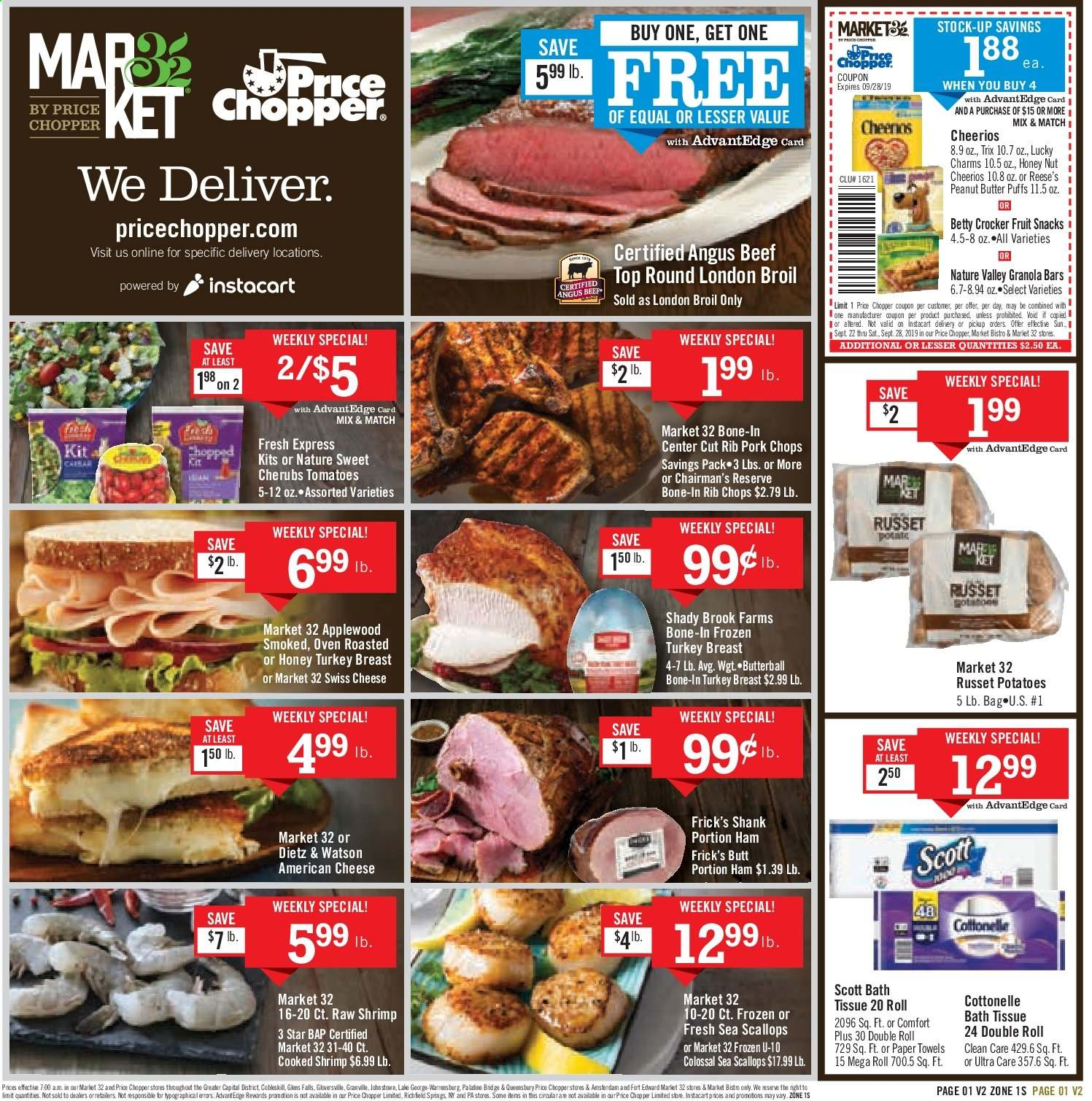 Price Chopper Flyer  - 09.22.2019 - 09.28.2019. Page 1.