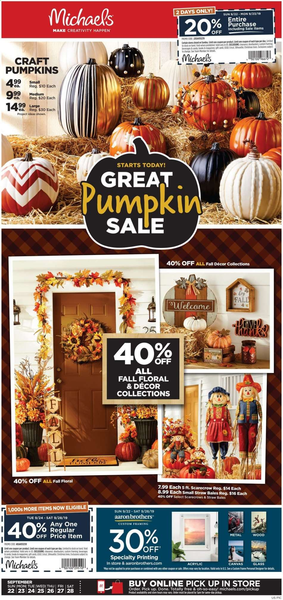 Michaels Flyer 09 22 2019 09 28 2019 Weekly Ads Us