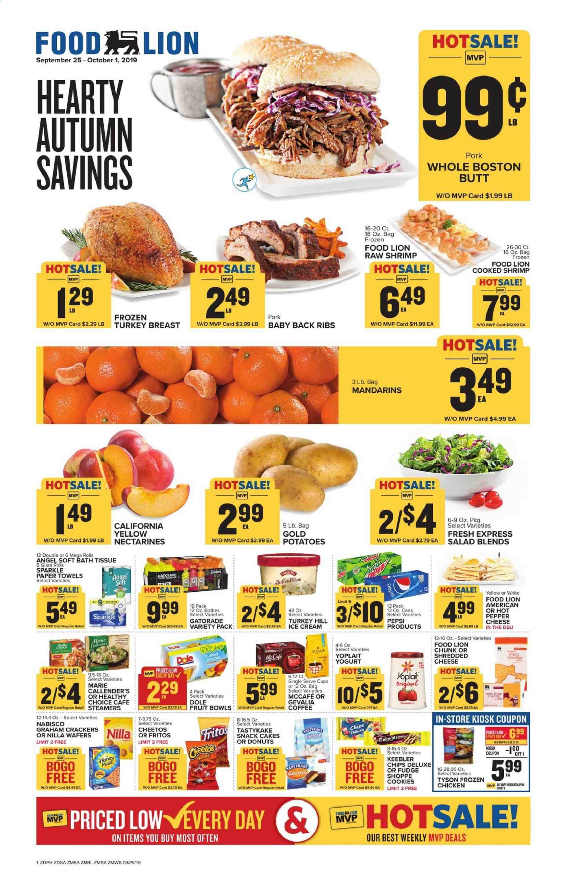 Food Lion Flyer  - 09.25.2019 - 10.01.2019. Page 1.