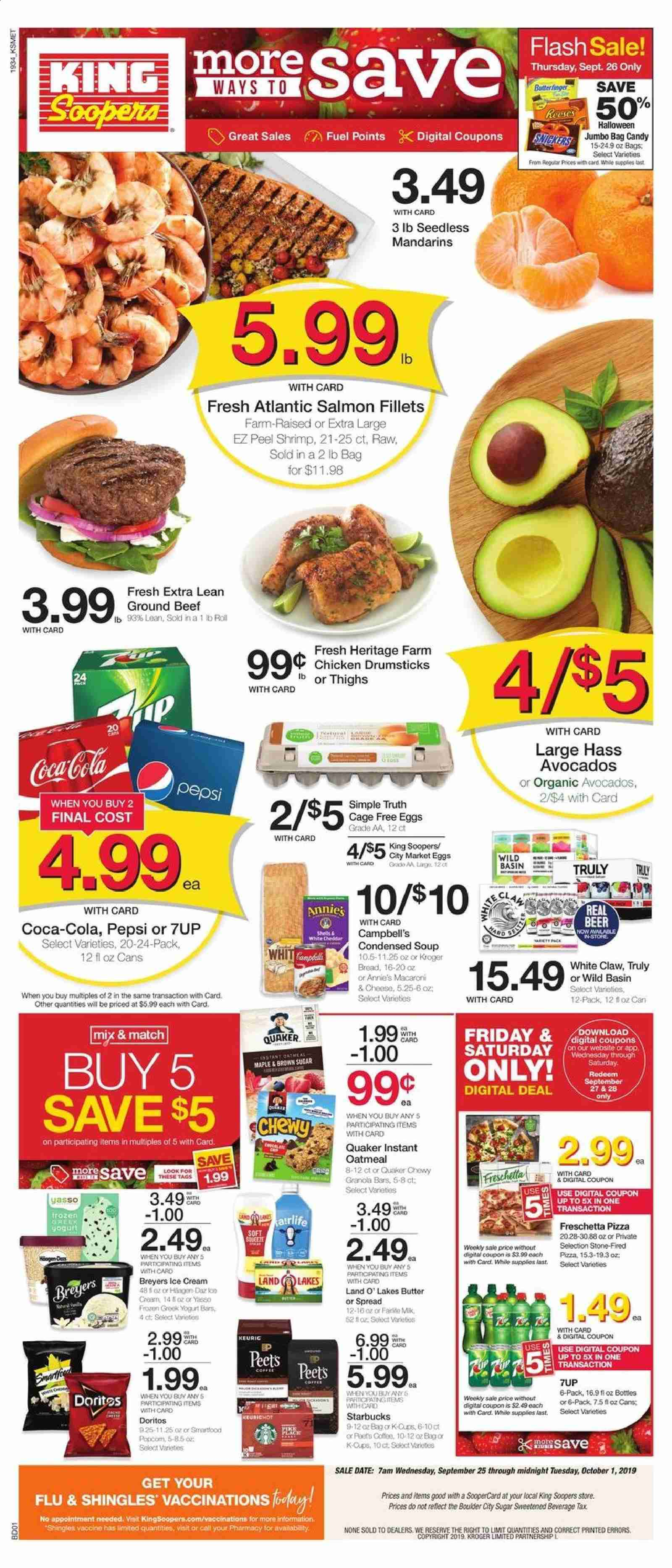 King Soopers Flyer  - 09.25.2019 - 10.01.2019. Page 1.