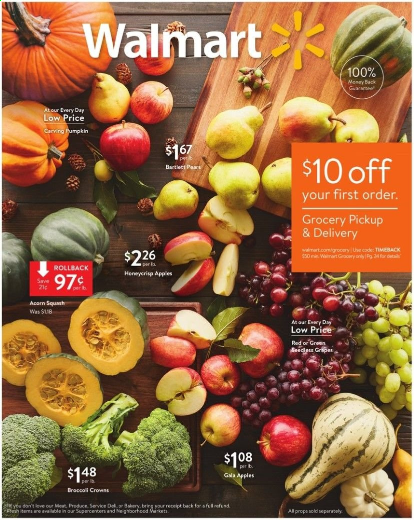 Walmart Flyer 09 27 2019 10 12 2019 Page 1 Weekly Ads