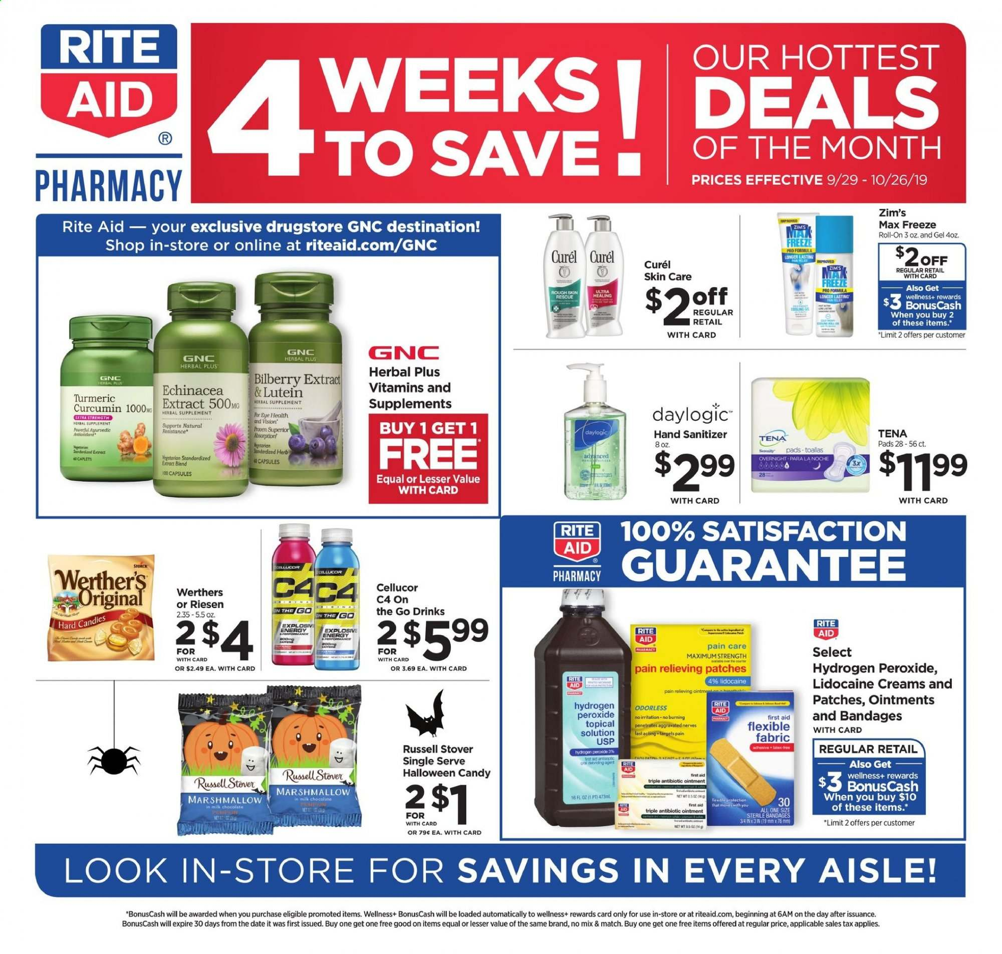 RITE AID Flyer  - 09.29.2019 - 10.26.2019. Page 1.