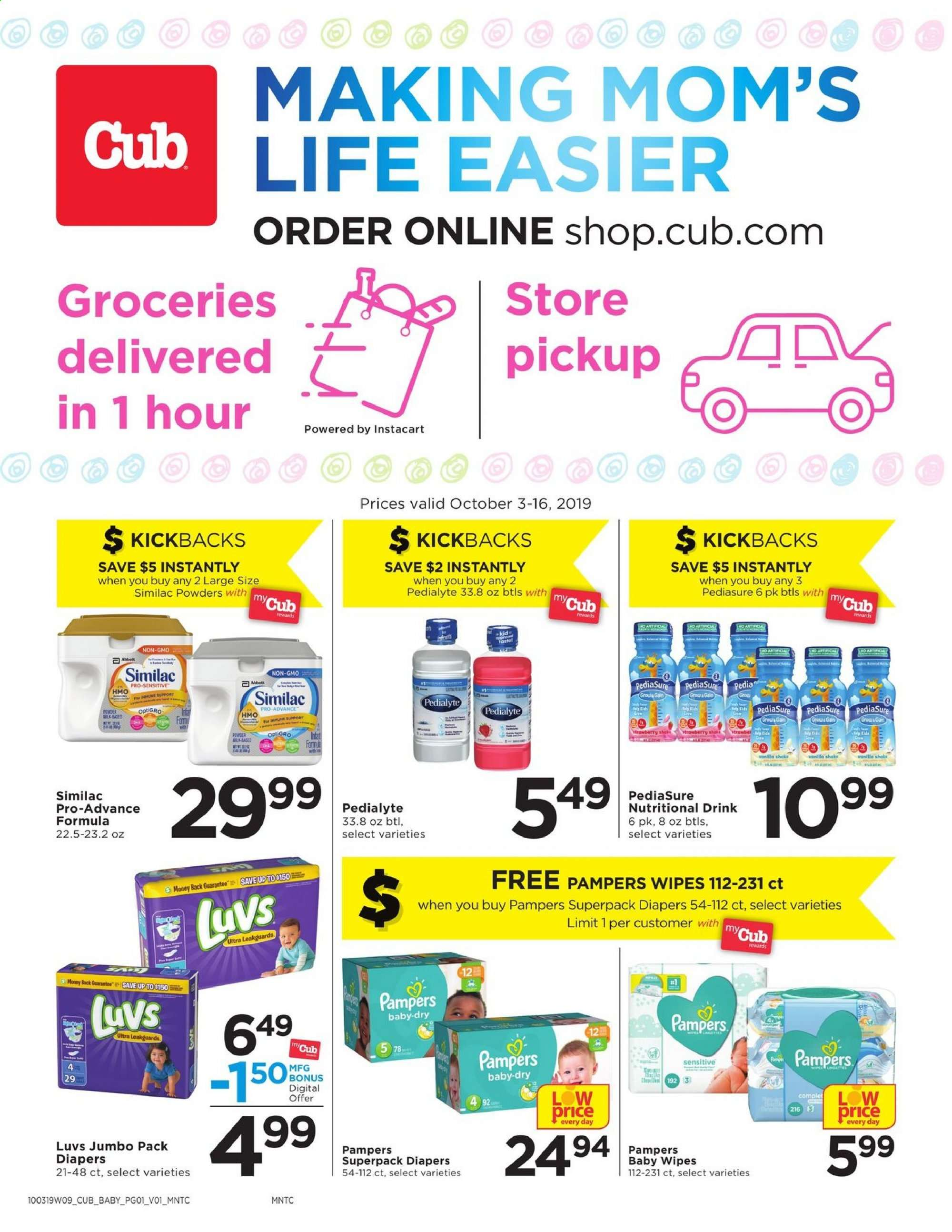 Cub Foods Flyer  - 10.03.2019 - 10.16.2019. Page 1.