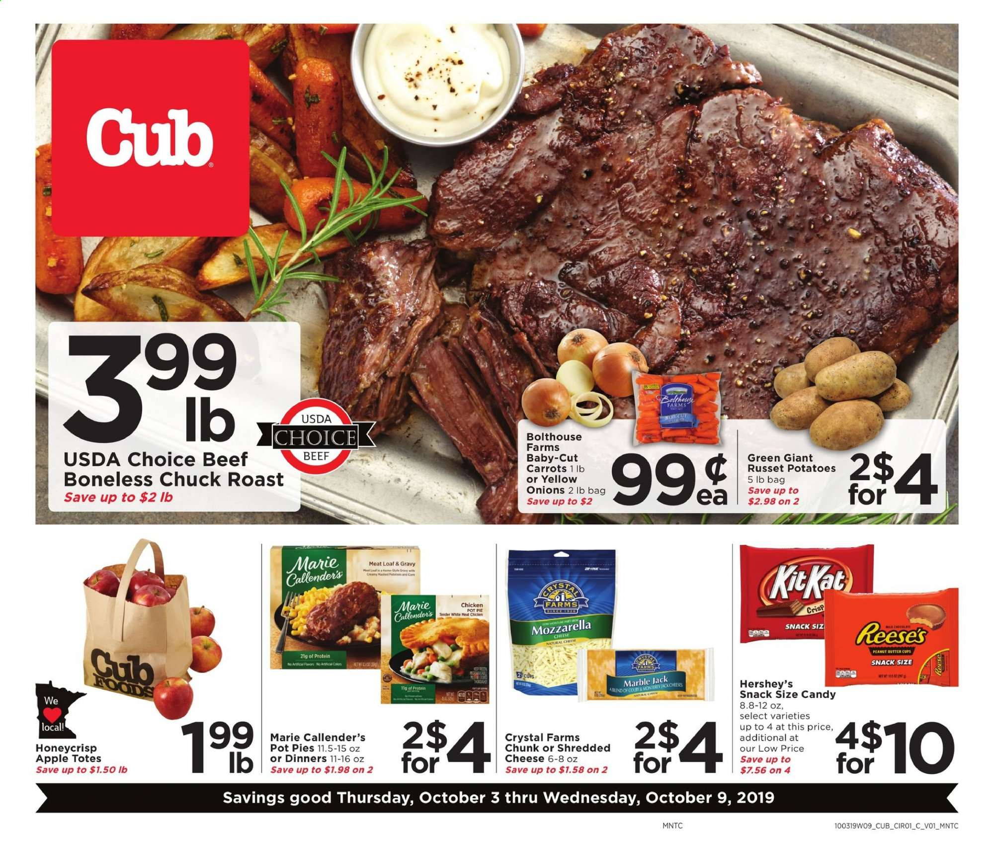 Cub Foods Flyer  - 10.03.2019 - 10.09.2019. Page 1.