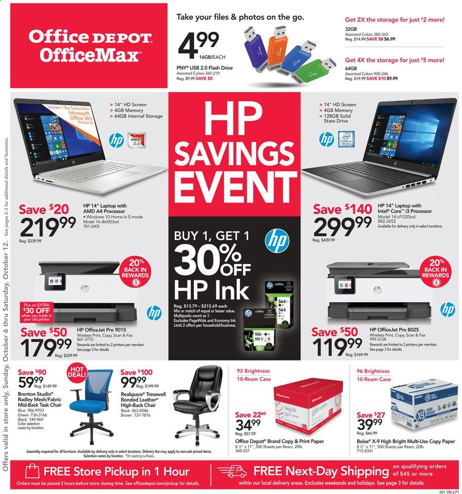Office DEPOT Flyer  - 10.06.2019 - 10.12.2019. Page 1.