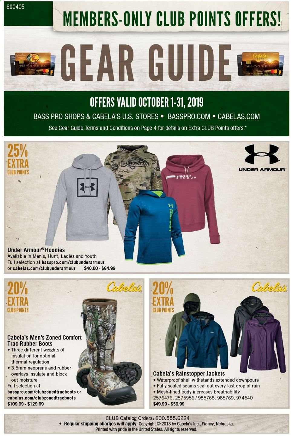 Bass Pro Shops Flyer  - 10.01.2019 - 10.31.2019. Page 1.